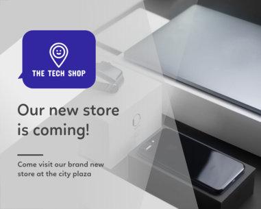 Vinyl Banner Maker for a New Technology Store 806b
