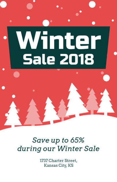 Holiday Flyer Generator for a Winter Sale 862d