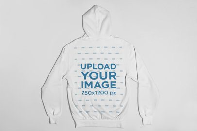 Pullover Hoodie Back Mockup Featuring a Flat Surface 23841