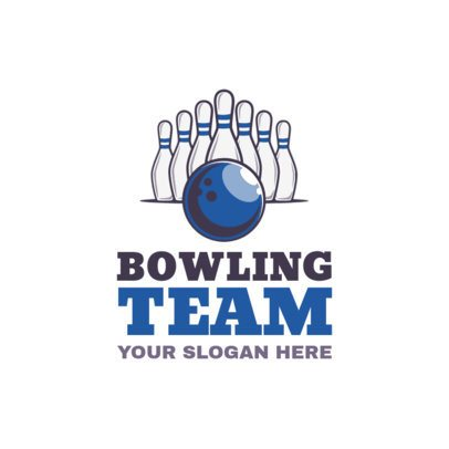 Bowling Logo Maker for a Bowling Team 1587