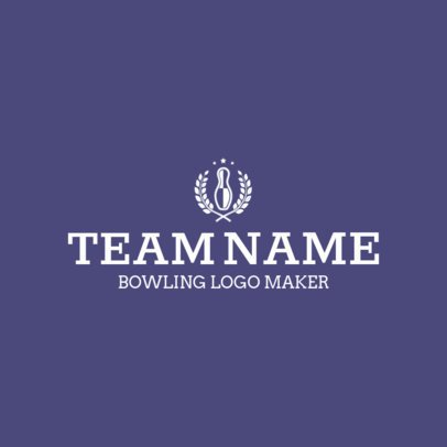 Bowling Logo Generator for a Bowling Team with Victory Wreaths Graphics 1587a