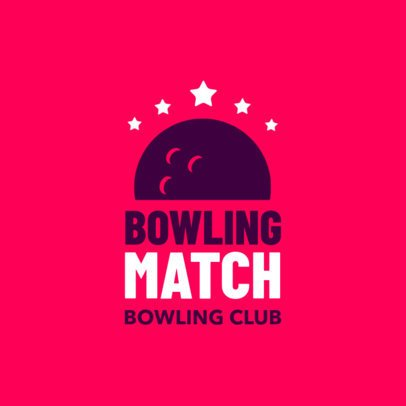 Bowling Logo Generator for a Bowling Club with Bowling Ball Icon 1587d