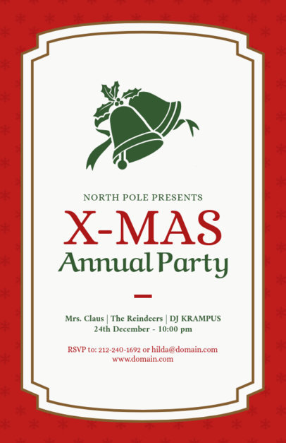 Annual Christmas Party Flyer Maker 847b