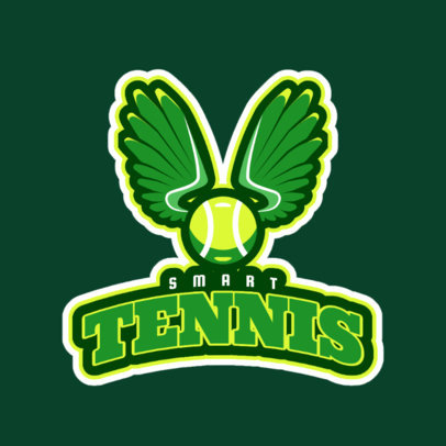 Tennis Logo Maker with Tennis Racket Clipart 1600