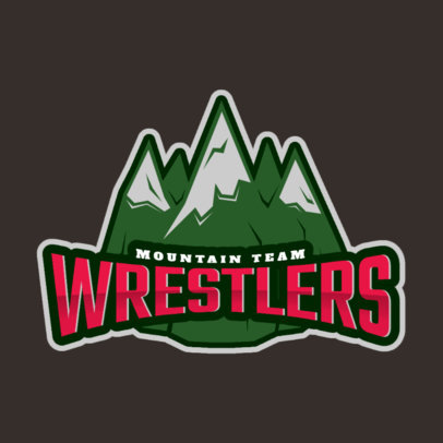 Wrestling Logo Generator with Mountain Peaks Clipart 1540e