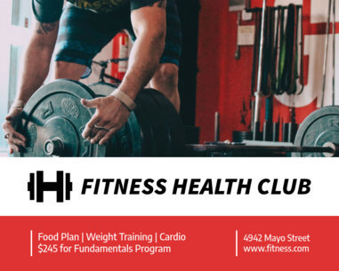 Vinyl Banner Maker for Fitness and Health Clubs 791c