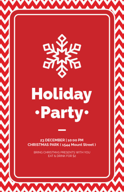 Holiday Flyer Design Template with Snowflake Graphics 847d