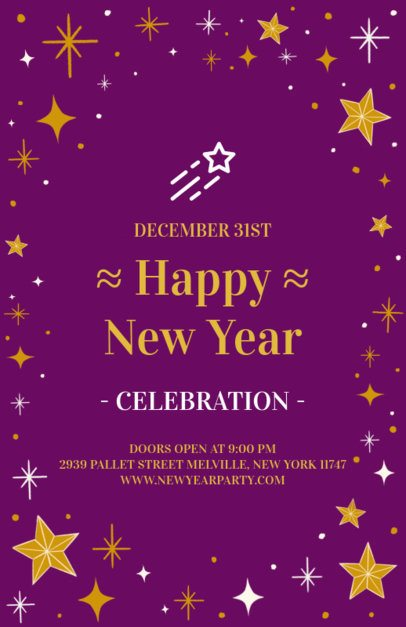 Holiday Flyer Template for a New Year's Eve Celebration 845d