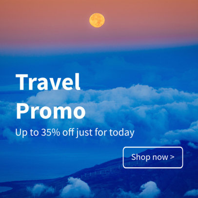 Banner Maker for Travel Promos and Sales 16638a