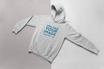 Heather Hoodie Mockup Over a Two-Color Surface 24231