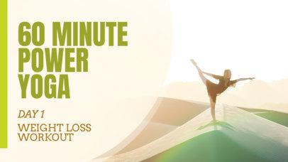 YouTube Thumbnail Maker for a Power Yoga Vlog 899