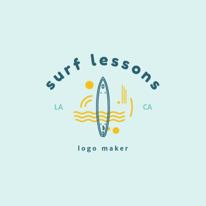 Swimming Logo Generator for Surf Lessons 1579e
