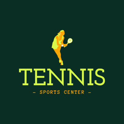Tennis Logo Maker for a Tennis Sports Center 1601c