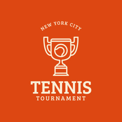 Tennis Logo Creator for Tennis Tournament 1604a