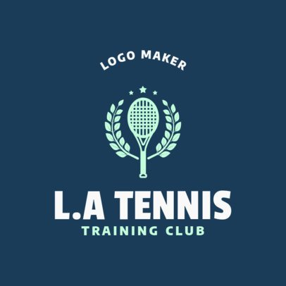 Tennis Logo Maker for Tennis Training Club 1604c
