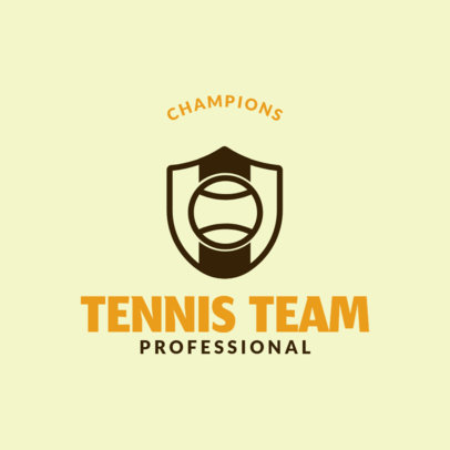 Tennis Logo Creator for Tennis Team 1604d