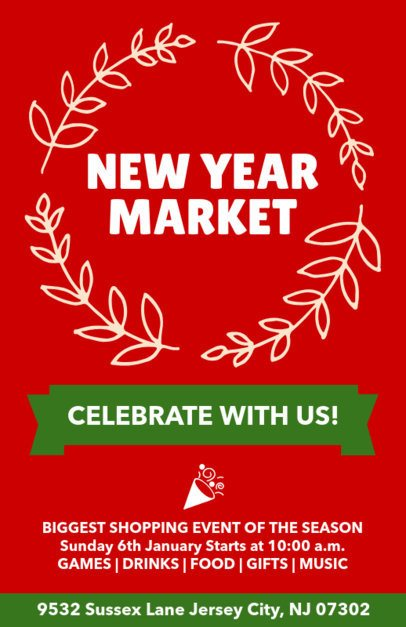 Holiday Flyer Generator for a New Year's Market 869a