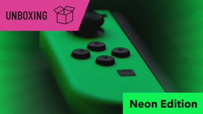 Youtube Thumbnail Maker for a Gaming YouTube Channel with Neon Colors 885c