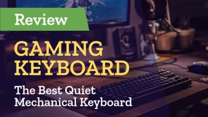Youtube Thumbnail Generator for Gaming Keyboard Reviews 938b