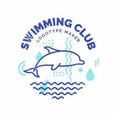Swimming Logo Maker for Swim Clubs 1575
