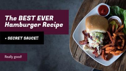 Youtube Thumbnail Maker for a Burger Recipe Vlog 901e