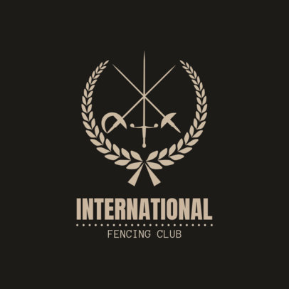 Fencing Logo Maker for an International Fencing Club 1610