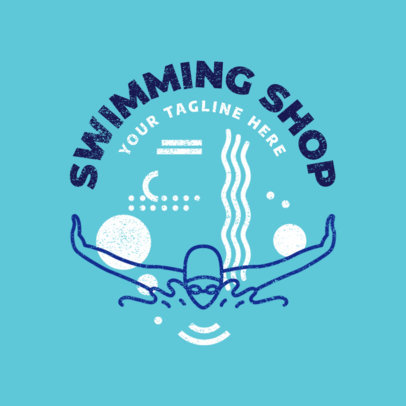 Swimming Logo Maker for Swim Shops 1575c
