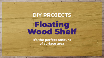 YouTube Thumbnail Design Template for a Do It Yourself Woodworking Project 890b