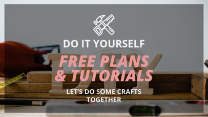 YouTube Thumbnail Design Maker for DIY Carpentry Tutorials and Ideas 890e