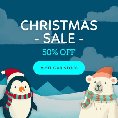Holiday Banner Template for a Christmas Sale 783a