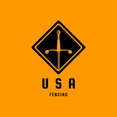 Simple Fencing Logo Generator 1613c