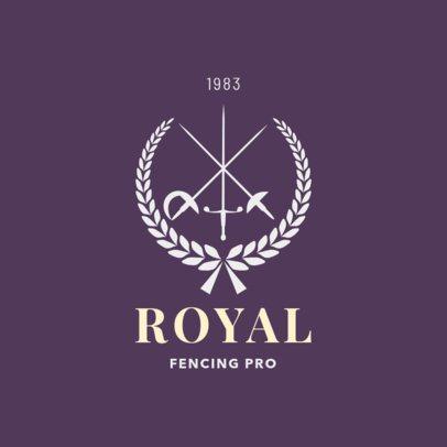 Elegant Fencing Logo Design Template 1613e