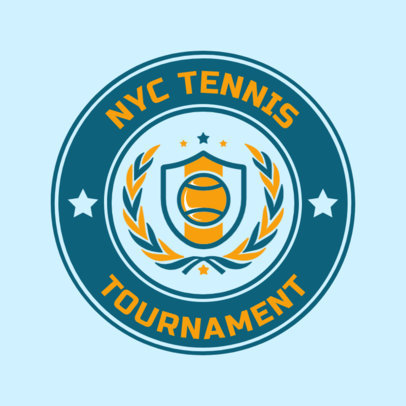 Tennis Logo Design Maker for a Tennis Championship 1641c