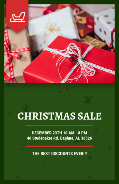 Online Flyer Template for a Christmas Sale 858a--1762