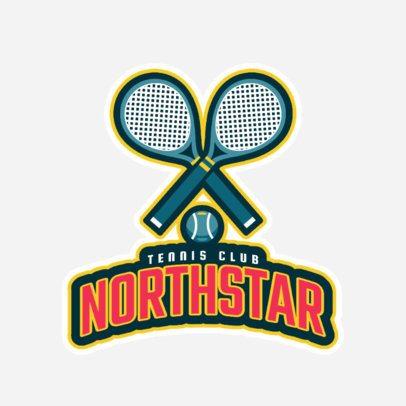 Tennis Logo Design Maker with Tennis Illustrations 1600e