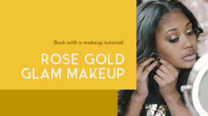 YouTube Thumbnail Template for a Makeup Tutorial Vlog 884a