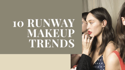 YouTube Thumbnail Template for a Makeup and Beauty Trends Vlog 884d