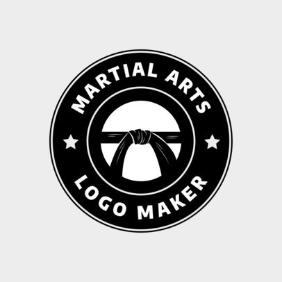 Martial Arts Logo Generator with Black Belt Graphics 1606