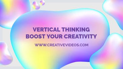 Creative YouTube Thumbnail Maker with Abstract Background 905c