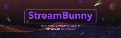 Space Banner Design Template for a Twitch Channel 579e