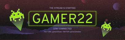 Retro-Futuristic Banner Template for a Twitch Channel 579a