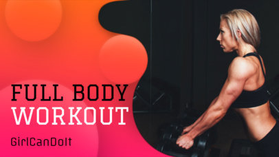 Colorful YouTube Thumbnail Design Template with Workout Images 939c