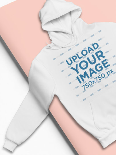 Simple Mockup of a Hoodie Spread Out on a Cardboard Roll 24365