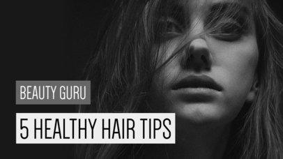YouTube Thumbnail Maker for Healthy Hair Tips 934b