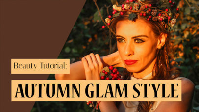 YouTube Thumbnail Maker for a Glam Style Vlog 934e