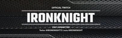 Twitch Gaming Account Banner Maker 604a