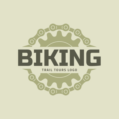 Biking Logo Design Template for Trail Tours 1570b