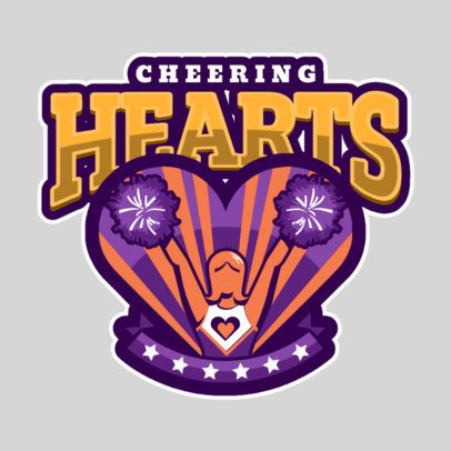 Cheerleading Logo Maker with Pom Pom Graphics  1598b