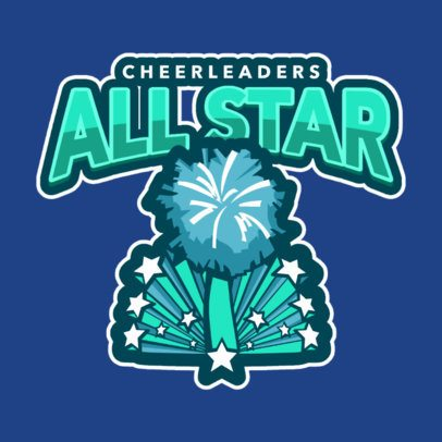 Cheerleader Logo Design Template for Professional Cheerleaders 1598d