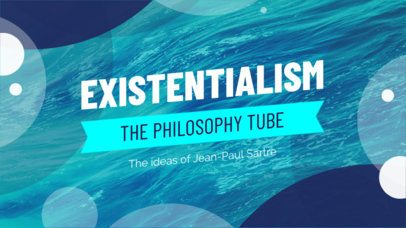 YouTube Thumbnail Maker for a Philosophy Channel 933a